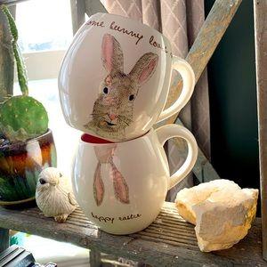 Set of 2 Rae Dunn Easter mugs